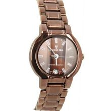 uUnico Tech Charlie Jill  in Brown Dial Bronze Color Stainless Steel Bracelet, Perfect Gift Idea
