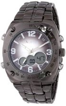 UNLISTED WATCHES UL1069 City Streets Round Analog Digital Grey Ion-Plated Case Bracelet