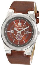 UNLISTED WATCHES UL1131 City Streets Round Brown Dial Brown Strap