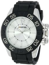 UNLISTED WATCHES UL1184 City Streets Silver Case Dial Black Bezel Black Strap