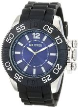 UNLISTED WATCHES UL1185 City Streets Silver Case Dial Blue Bezel Black Strap