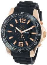 UNLISTED WATCHES UL1202 City Streets Round Rose Gold Black Dial Strap