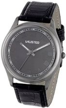 UNLISTED WATCHES UL1217 City Streets Round Gunmetal Grey Roman Numerals