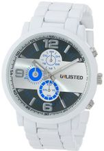 UNLISTED WATCHES UL1236 City Streets White Case White Bracelet Blue Details