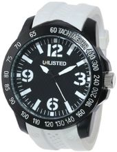 UNLISTED WATCHES UL1240 City Streets Round Black Case Dial White Details and Strap