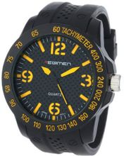 USMC Regimen RW1011 Classic Analog with Black Case, Faux Carbon Fiber Dial and Yellow Markings