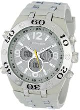 USMC Regimen RW1040 White & Silvertone Analog-Digital Chronograph