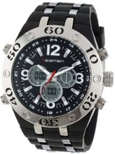 USMC Regimen RW1041 Black & Silvertone Analog-Digital Chronograph with White Markings