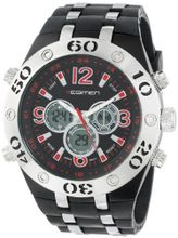 USMC Regimen RW1042 Black & Silvertone Analog-Digital Chronograph with Red Markings