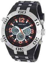 USMC Regimen RW1043 Black & Silvertone Analog-Digital Chronograph with Orange Markings