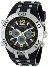 USMC Regimen RW1044 Black & Silvertone Analog-Digital Chronograph with Yellow Markings