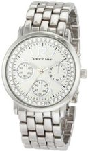 Vernier VNR11005 Round Crystal Bezel Chrono-Look Fashion