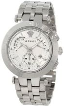 Versace 23C99D002 S099 V-Race Stainless-Steel White Dial Chronograph