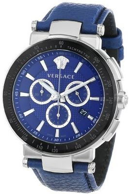 Versace VFG020013 Mystique Sport 46mm Black Ion-Plated Coated Stainless Steel Bezel Chronograph Tachymeter Date