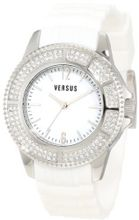 Versus by Versace 3C64100000 Tokyo White Rubber Silver Dial Crystal