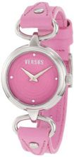 Versus by Versace 3C67900000 Versus V Pink Dial with Crystals Genuine Leather
