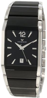 Viceroy 47477-55 Black Ceramic and Stainless Steel with Square Dial