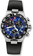 Stainless Steel Victorinox Summit XLT Chronograph Blue Dial Black Rubber Strap