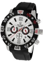 uVICTORY Victory Instruments V-Accelerate Chronograph White Dial/Black Bezel Sport 6002-WB