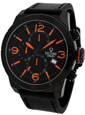 Victory Instruments V-Nomad Chronograph Orange/Black Leather Casual 1283-OB