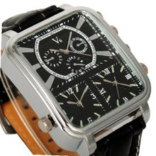 Sport Big Oversized Leather Russian Style Military Triple Hours Wrist