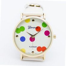 Viliysun- 2013 New Style Geneva Woman's Lady Wave Point Quartz Leather