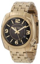Vince Camuto VC/1000BKGP The Pilot Black Dial Date Function Gold-Tone