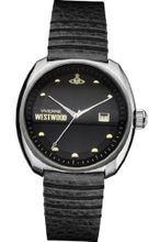 Vivienne Westwood Bermondsey Quartz with Black Dial Analogue Display and Black Leather Strap VV080BKBK