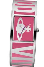 Vivienne Westwood Bond Quartz with Pink Dial Analogue Display and Multicolour Stainless Steel Bangle VV084PK
