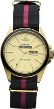 Vivienne Westwood Camden Lock II Quartz with Gold Dial Analogue Display and Multicolour Fabric Strap VV068GDBK