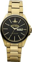 Vivienne Westwood Camden Lock Quartz with Black Dial Analogue Display and Gold Stainless Steel Bracelet VV063GD