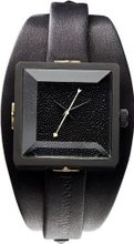 Vivienne Westwood Cube II Quartz with Black Dial Analogue Display and Black Leather Strap VV008MBKBK