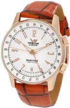 Vostok-Europe 2426/5609060 Gaz-14 Limousine Automatic Mechanical Russian Dual Time Leather Strap
