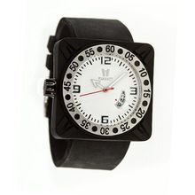 Deepest Gent in Black with White Dial
