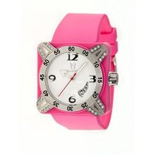 Deepest Lady Ladies in Hot Pink with Silver Bezel