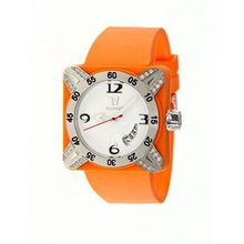 Deepest Lady Ladies in Orange with Silver Bezel