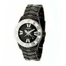 H2O Lady Ladies with Black Steel Band and White Bezel