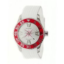 H2O Lady Ladies with White Band and Red Bezel