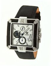 Snowest Square with Black Band and White Dial
