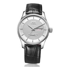 Vufflens, V001.230.33 Baltic Sea Collection Classic Black Leather White Dial Mechanical