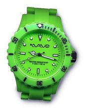 Wave Gear Unisex Sports Colourful Green Ocean OC1001OG With Colour Matched Polycarbonate Strap