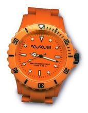 Wave Gear Unisex Sports Colourful Orange Ocean Oc1001OO With Colour Matched Polycarbonate Strap
