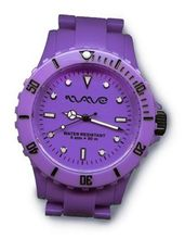 Wave Gear Unisex Sports Colourful Purple Ocean OC1001OP With Colour Matched Polycarbonate Strap