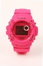 Wave Gear Unisex Sports Colourful Reef Pink RF1001PK With Colour Matched Rubber Strap