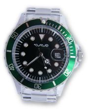 Wave Gear Unisex Sports Green & Clear Tidal TD1001GC With Clear Polycarbonate Strap