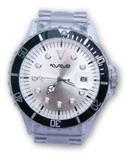 Wave Gear Unisex Sports Silver & Clear Tidal TD1001SC With Clear Polycarbonate Strap