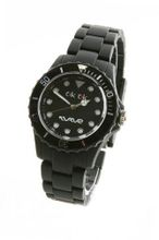 Wave Gear-Unisex Sports Tik Tok Black TK1101BK With Matching Silicone Coated Polycarbonate Strap