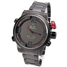 Mudder WEIDE Army Military LED Date Week Alarm Sports Quartz Wrist Red Button (Original Box + Cloth))