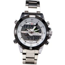 Stainless Steel Digital LED Boys Analogue Alarm Sport Quartz Wrist + Gift Box