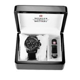 Wenger 66182 Set - Wenger 79264 Special Edition Zurich Carbon Fiber Dial Chronograph and Swiss Army Knife Set